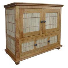 Matchstick 1 Drawer 2 Door Cabinet At Elementfinefurniture.com Hand Made Solid Wood Furniture