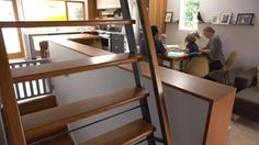 "Custom made stairs and tasteful ""small"" house in ""Seattle Family Almost Doubles Its Space Without Adding On"""