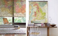 10 ideas para decorar con mapas #mapas #aperfectlittlelife ☁ ☁ A Perfect Little Life ☁ ☁ www.aperfectlittlelife.com ☁