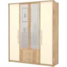Juego de dormitorio completo A Lepa, 5 piezas, color: marrón roble / crema Steinersteiner Transitioning Hairstyles, Hairstyles For School, Wardrobe Hinges, Most Beautiful Pictures, Cool Pictures, Armoire, Style Pastel, Underlights Hair, Medium Bob Hairstyles