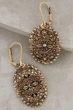 Anthropologie Filigree Discus Earrings #anthrofave #anthropologie
