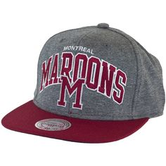 Mitchell & Ness Jersey Arch Snapback Cap Montreal Maroons ★★★★★