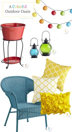 A Colorful Outdoor Oasis with @Pier 1 Imports via Live Colorful #Pier1Outdoors  #ad