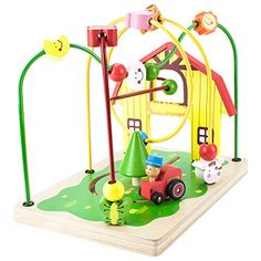 Imagination Generation Wooden Wonders Busy Barnyard Bead Maze ** Check out the image by visiting the link.