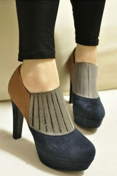 2013 Fall/Winter Color Block Suede Ankle Boots, Color Block Paneled Suede Boots #color #block #boots #booties www.loveitsomuch.com