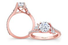 Our collection of rose gold engagement rings are absolutely stunning and completely unique. All of our rings are designed at our Las Angeles location. Bridesmaid Accessories, Bridesmaid Jewelry Sets, Bridal Jewelry Sets, Perfect Engagement Ring, Rose Gold Engagement Ring, Brautring Sets, Wedding Rings Simple, Bridal Bracelet, Brilliant Diamond