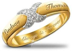 Everlasting Kiss Personalized Diamond Ring: Couples Jewelry Gift For Her Promise Ring For Girls, Cheap Promise Rings, Matching Promise Rings, Promise Rings For Couples, Diamond Promise Rings, Personalized Promise Rings, Engraved Promise Rings, Most Expensive Engagement Ring, Best Engagement Rings