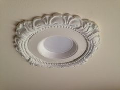 "victorian style decorative recessed light trim with 5"" LED retrofit"
