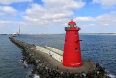 Poolbeg Lighthouse Drone Photo by dfeehely