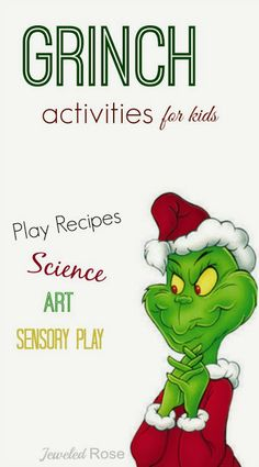 Creative & FUN Grinch Activities for Kids; nothing says Christmas like the GRINCH!