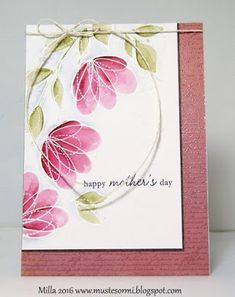 Penny Black and More: May winner - SSS Spring Flowers Penny Black Karten, Penny Black Cards, Mom Cards, Mothers Day Cards, Baby Cards, Scrapbooking, Scrapbook Cards, Watercolor Cards, Watercolor Bookmarks