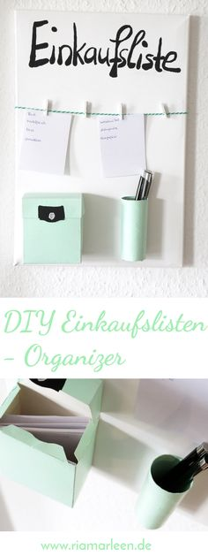 DIY Einkaufslisten Organizer selber machen You are constantly looking for your shopping lists? Your problem will be solved in no time with this cool DIY shopping list organizer Diy Home Decor Projects, Diy Home Crafts, Diy Room Decor, Room Crafts, Diy Tumblr, Diy Décoration, Easy Diy, Cool Diy, Diy Pinterest
