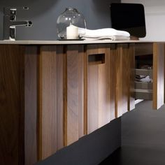 Solid wallnut bathroom vanity by @naxani in www.looloshop.com