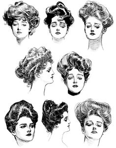 "1900 hairstyles (Re-pinned by ""Hoss Lee Academy)"