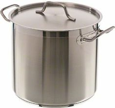 Update International SPS-16 SuperSteel 18/8 Stainless Steel Induction Ready Stock Pot with Cover, 16-Quart, Natural by Update International. $46.21. Stainless steel stock pot with cover is excellent for making a small batch of your restaurant?s signature soups. Comes in 16-quart capacity. Induction ready stock pots are a staple of any professional kitchen. NSF-Listed SuperSteel stock pot features a 3-ply bottom consisting of two layers of stainless steel surro...