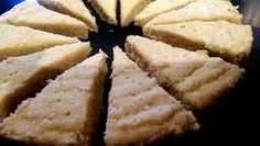 """This is a Florence Knight recipe. 265g unsalted butter, 100g caster sugar, 225g plain flour, 60g rice flour, sea salt. Line 8"""" cake tin. Beat butter, sugar, flours & good pinch of sea salt to form dough. Put dough into tray, prick with fork, put tray in freezer for 10 mins. Bake at 160 degC for 30-40 mins straight from freezer. Score into pieces and scatter more sugar and salt on top. Leave to cool in tin, then slice."""