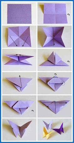 origami butterflies how to make a paper butterfly easy origami . - - origami butterflies how to make a paper butterfly easy origami … 2019 Origami-Schmetterlinge wie man einen Papierschmetterling einfach macht Origami … Origami Design, Instruções Origami, Paper Crafts Origami, Paper Crafting, Origami Ideas, Paper Folding Crafts, Origami Folding, Paper Oragami, Origami Lily