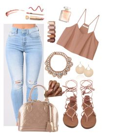 """Untitled #130"" by zohanna on Polyvore featuring TIBI, Mignonne Gavigan and Louis Vuitton"