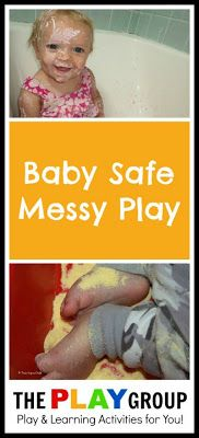 200+ Ideas for Messy Play Ideas from The PLAY Group with a section of ideas specifically for BABIES!
