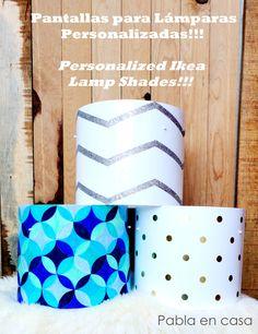 Personalized ikea lamp shades!!! diy