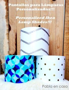 Personalized  ikea lamp shades!!! diy