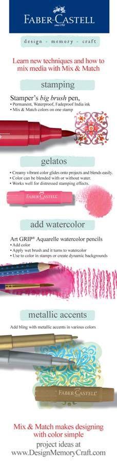 Faber Castell Polychromos Pencils have the largest colour assortment of… Mixed Media Techniques, Art Journal Techniques, Card Making Techniques, Gelato, Scrapbooking, Diy Papier, Polychromos, Colouring Techniques, Pastel Pencils