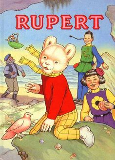 Rupert The Bear - how I loved gentle Rupert. Vintage Children's Books, Vintage Posters, Children's Book Illustration, Illustrations, The Old Days, My Books, Story Books, Childhood Memories, Childrens Books
