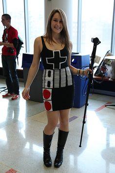 nintendo controller pad dress (by Sousveillance): gotta figure ou how to make this