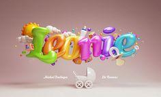 Creative 3d Lettering: Leonie Birthcard