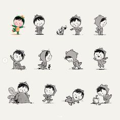 Chris Chatterton's commercial, personal and picture book illustration portfolio Art And Illustration, Character Illustration, Family Drawing, Cute Little Drawings, Cute Characters, T Rex, Art Sketchbook, Kid Character, Cartoon Drawings