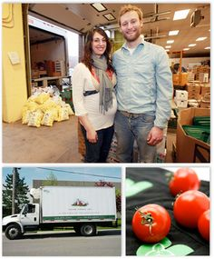 Paul Sawtell and Grace Mandarano at 100km Foods connect us with farmers who deliver the fresh, local and sustainable ingredients that we use in our food.