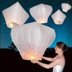 Amazon.com: 50 PCS Sky Lanterns Wishing Lantern - White: