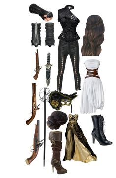 """""""female musketeer / assassin"""" by rebelgoddess421 ❤ liked on Polyvore featuring art"""