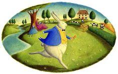 Alice's Adventures in Wonderland by Alison Jay. çizgili masallar: Alice in Wonderland
