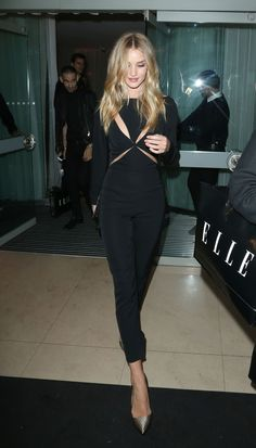 Rosie Huntington-Whiteley...she always looks so chic.