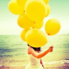:)  Life is a Fun-Filled Day at the Beach, with Balloons  :)