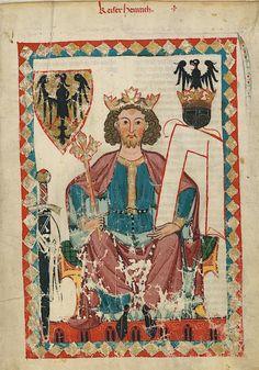 Manesse Codex - (1300 - 1340) Kaiser Heinrich