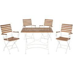 Safavieh Lawndale Outdoor Dining Set Teak Brown ($674) ❤ liked on Polyvore featuring home, outdoors, patio furniture, outdoor patio sets, outdoor furniture, teak wood patio furniture, brown patio furniture, teak patio furniture, outdoor bistro furniture and teak garden furniture