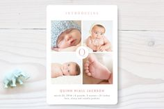 Initial Intro Birth Announcements