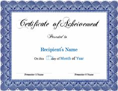 Word achievement award certificate can be used to draft your own 5 certificate of completion templates teknoswitch teknoswitch yelopaper Choice Image