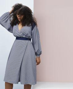 f2c58208db3f Striped Wrap Dress by Prabal Gurung · Prabal GurungDress FirstPlus Size  Spring DressesLane BryantWrap ...