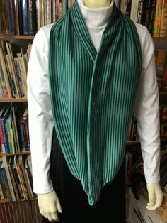 Jade Green and Navy Stripe/Dot Fashion Infinity, Circle, Loop Scarf by NancyPKdesigns on Etsy