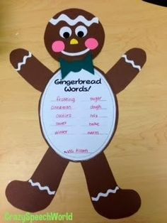 Gingerbread craft th