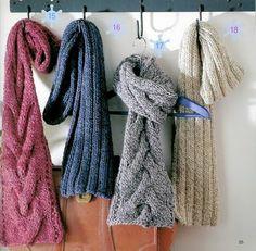 Bufandas fáciles y con ochos