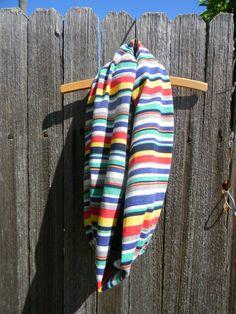 Multi Color Striped Infinity Scarf     #womensapparel #infinityscarf #designs
