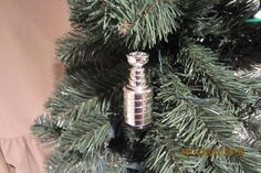 Stanley Cup custom Hockey ornament many to choose from. $8.00, via Etsy.