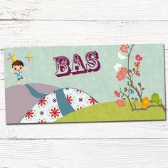 Getekend geboortekaartje jongen met windmolen | design op maat | grafisch | ontwerp | babykaartjes |