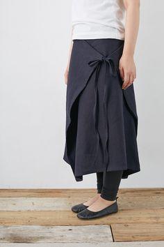 SARAXJIJI オックスリネンフォールドスカート - poooL (online shop)