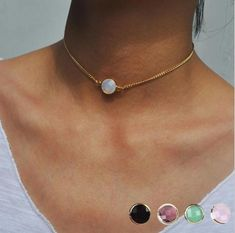Fashion Short necklace 4 colors Crystal Pedant Choker Necklace For Wom – intothea Diamond Bar Necklace, Layered Choker Necklace, Layered Chokers, Ruby Necklace, Short Necklace, Pendant Necklace, Choker Necklaces, Bridal Jewelry, Jewelry Gifts