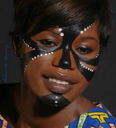 maquillage artistique africa